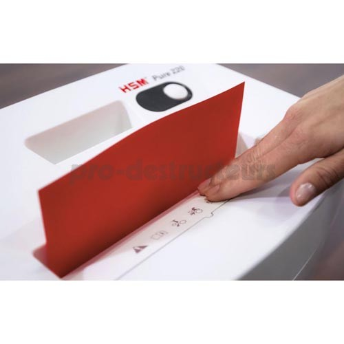 votre achat de destructeur de documents 220 pure 3 9 mm hsm au meilleur prix achat vente. Black Bedroom Furniture Sets. Home Design Ideas