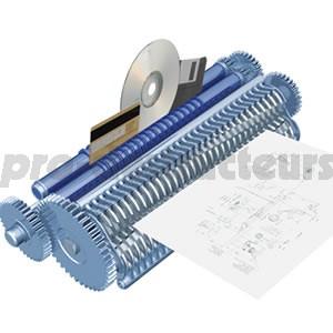 votre achat de destructeur papier de niveau de s curit norme din 66399 26 cc3 pro 4 x 28 mm. Black Bedroom Furniture Sets. Home Design Ideas