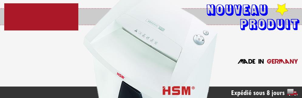 Destructeur de documents HSM SECURIO B26 coupe croisée
